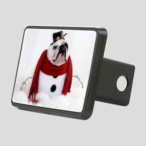 Snowman Rectangular Hitch Cover