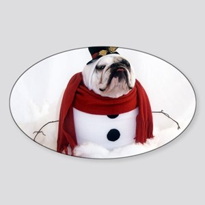 Snowman Sticker (Oval)