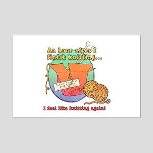 Chinese Knitting Mini Poster Print