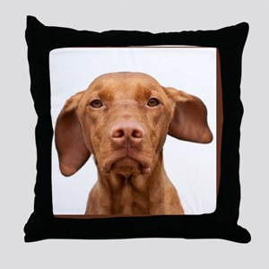 Cricket Square Brown Throw Pillow