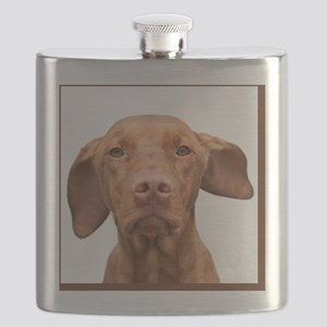 Cricket Square Brown Flask