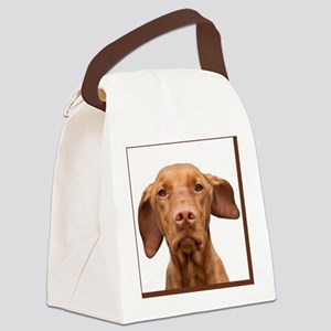 Cricket Square Brown Canvas Lunch Bag