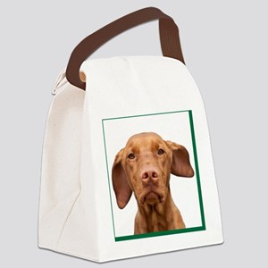 Cricket Square Green Canvas Lunch Bag