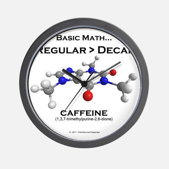 caffeine4 Wall Clock