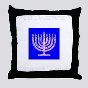 Im Half Jewish the Bottom 1/2 Throw Pillow