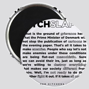 Christopher Hitchens Hitchslap 07 back whit Magnet