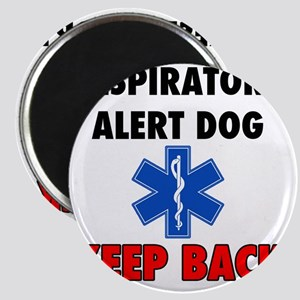 RESPIRATORY ALERT DOG KEEP BACK. Magnet