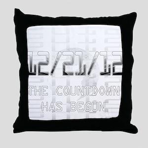transparent-on-black Throw Pillow