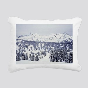 View from Mt Rainier Rectangular Canvas Pillow
