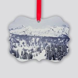View from Mt Rainier Picture Ornament