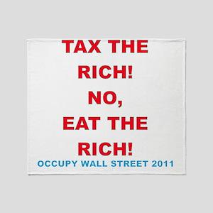tax-eat-the-rich Throw Blanket
