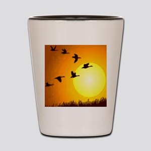 Geese Shot Glass