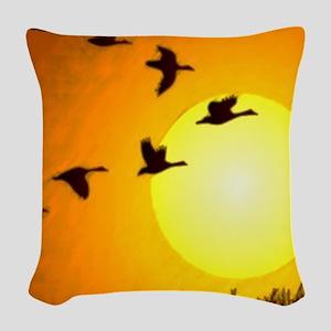 Geese Woven Throw Pillow