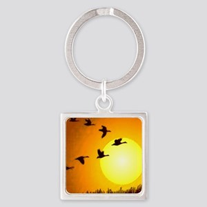 Geese Square Keychain