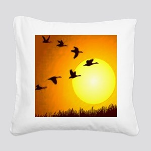 Geese Square Canvas Pillow