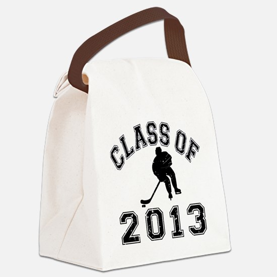Class Of 2013 Hockey - Black 2 D Canvas Lunch Bag
