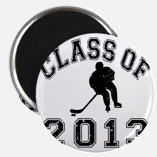 Class Of 2013 Hockey - Black 2 D Magnet