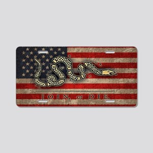 flag1-join-die-OV Aluminum License Plate