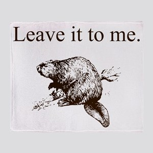 Leave it to me... Beaver (front only Throw Blanket