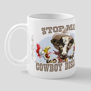 Funny Stop Mad Cowboy Mug
