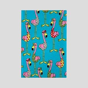 sharp-flamingos- Rectangle Magnet