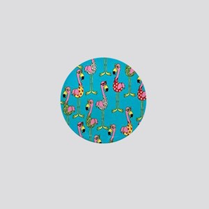 sharp-flamingos- Mini Button