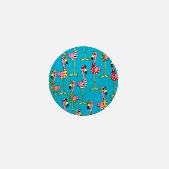sharp-flamingos- Mini Button