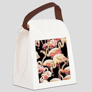 Graceful-Pool-Black Canvas Lunch Bag