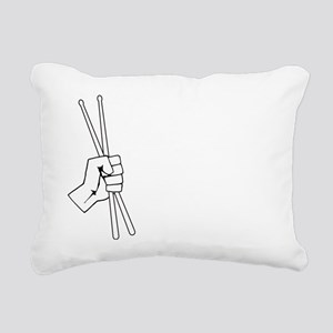 white,Rocking the Sticks Rectangular Canvas Pillow