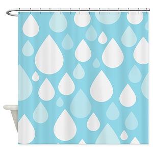 Rain Drops Shower Curtains
