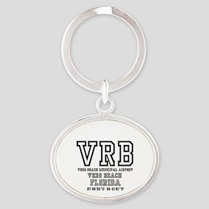 AIRPORT CODES - VRB - VERO BEACH, FL Oval Keychain
