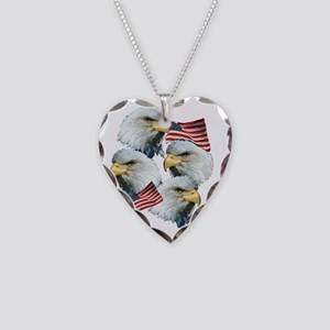 eagles Necklace Heart Charm