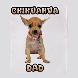 Chihuahua Dad Throw Blanket
