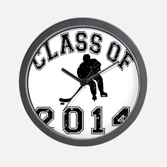 Class Of 2014 Hockey - Black 2 D Wall Clock
