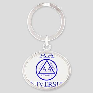 aa-university16 Oval Keychain