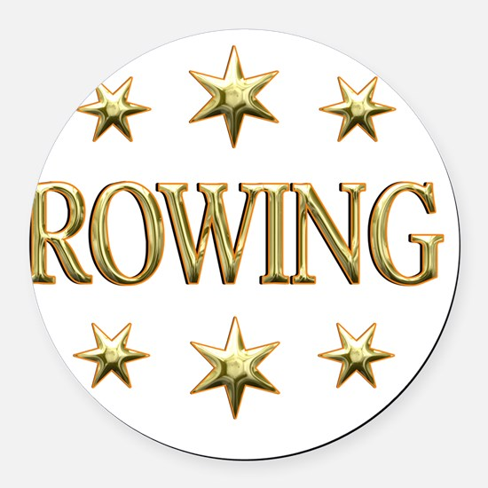 ROWING Round Car Magnet