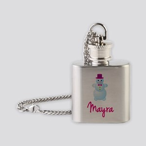 Mayra-the-snow-woman Flask Necklace
