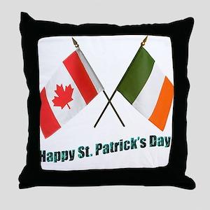 Irish & Canadian Flags Throw Pillow
