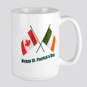 Irish & Canadian Flags Large Mug
