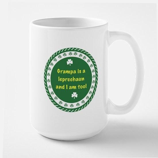 Grampa Is a Leprechaun Large Mug