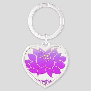breathe lotus Heart Keychain