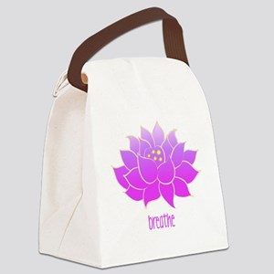 breathe lotus Canvas Lunch Bag