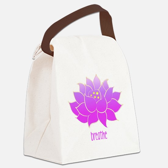 breathe lotus Canvas Lunch Bag