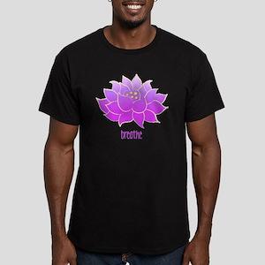 breathe lotus Men's Fitted T-Shirt (dark)