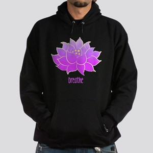 breathe lotus Hoodie (dark)