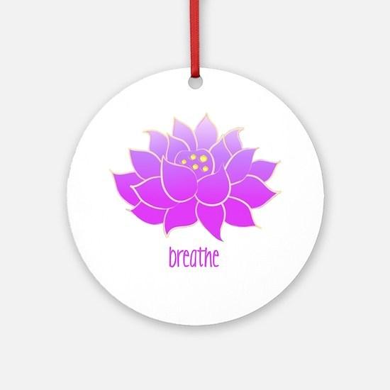 breathe lotus Round Ornament
