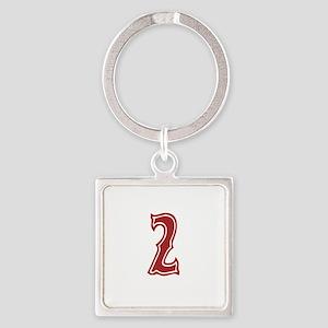 redsoxwhite2 Square Keychain