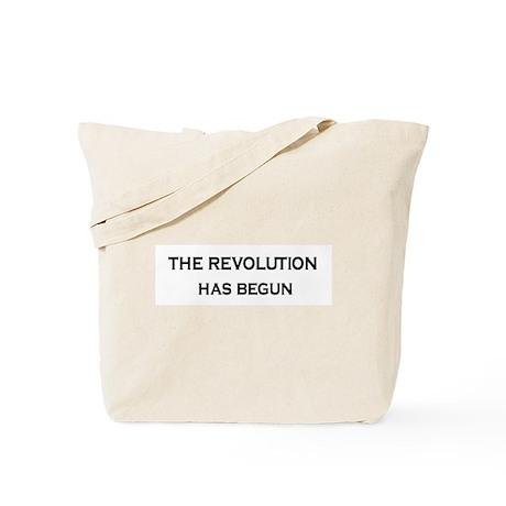 Revolution text Tote Bag