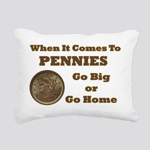 large-cent-go-home Rectangular Canvas Pillow