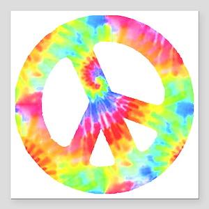 "peace_td Square Car Magnet 3"" x 3"""